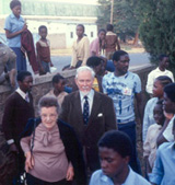 Desmond and Betty Clark at Livingstone Museum 1988