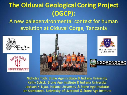 Olduvai Gorge Coring Project slide
