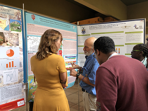 Daniella Peltier presents research poster