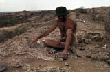 Glynn at Koobi Fora excavation, 1978