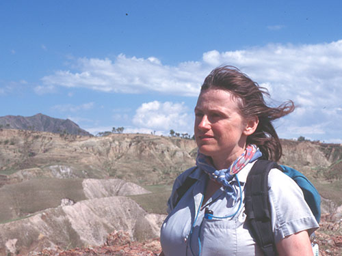 Kathy Schick in the Nihewan Basin, China