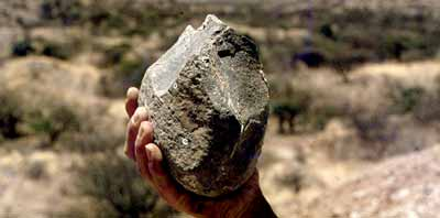 Stone tool found at Koobi Fora