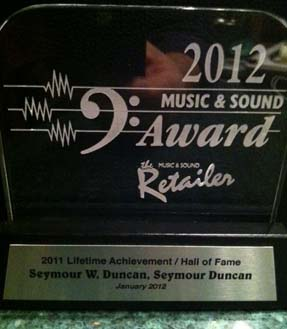 Seymour Duncan Lifetime Achievement Award