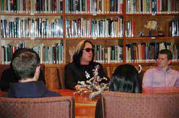 Todd Rundgren speaking to Wells Scholars.